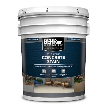 BEHR PREMIUM Solid Color Concrete Stain 5 Gallon can.