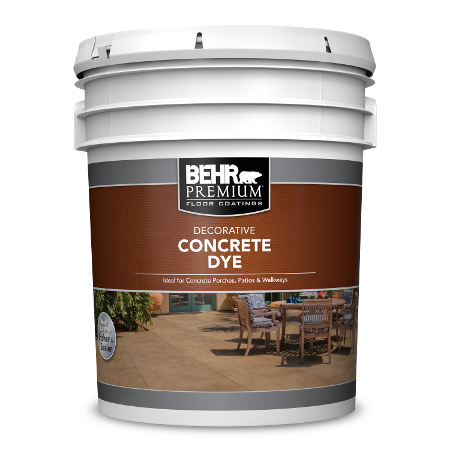 BEHR PREMIUM Decorative Concrete Dye 5 Gallon can.