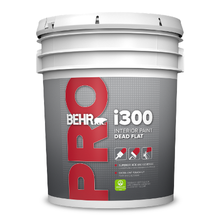 BEHR PRO i310 dead flat 5 gallon product can image.
