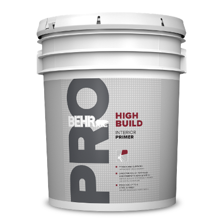 BEHR PRO High Build Primer 5 gallon can image.