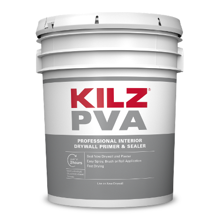 KILZ PVA drywall primer 5 Gallon can image.