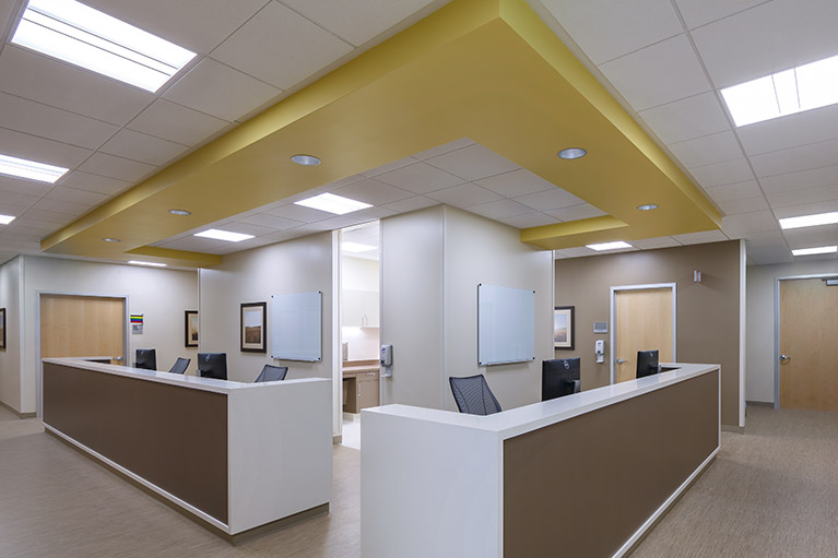 Small Image of an empty reception area you will find at your doctors office.
