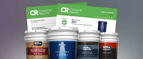 Consumer Reportf or Select Behr Products.