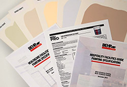 A collection of BEHR TDS, Drawdowns and Specification documents.