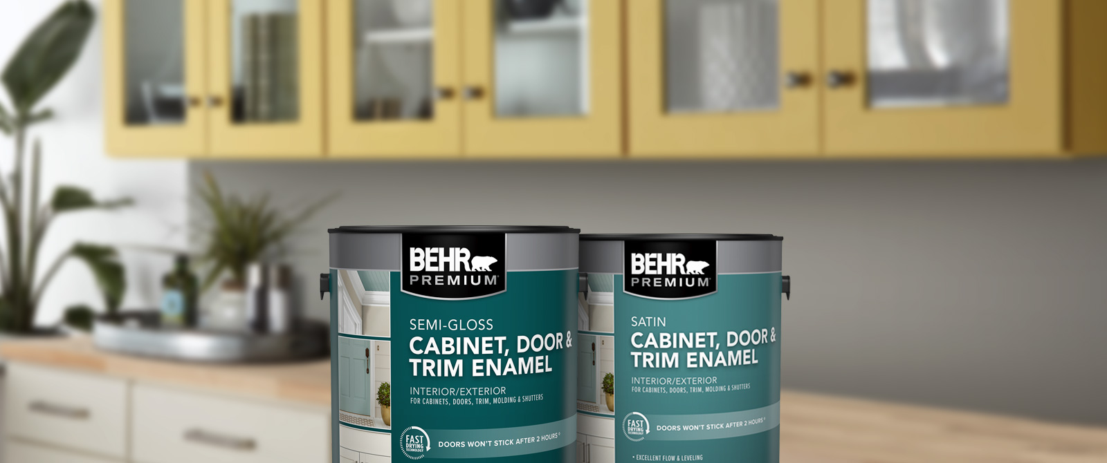 BEHR PREMIUM Cabinetry and Trim - Satin & Semi-gloss Paint