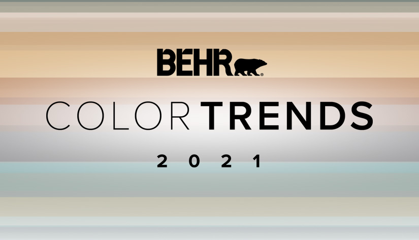 BEHR Color Trends 2021 in the forefront of the color palette