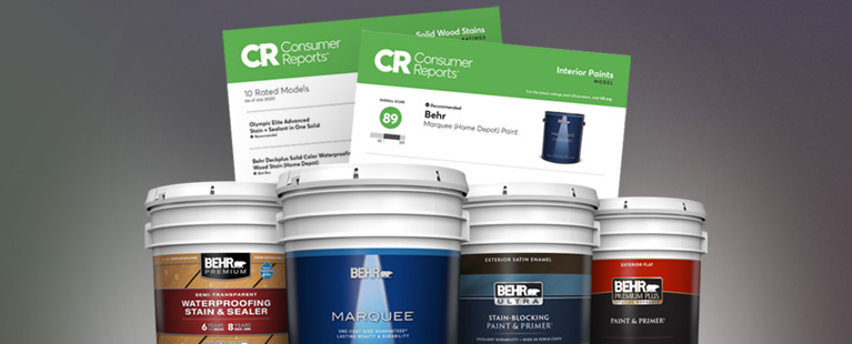 BEHR Paints & Stains are Rated by Consumer Reports