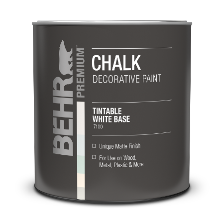 Can of chalk decorative paint