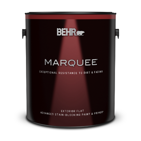 1 gallon can of Behr Marquee Exterior Flat Paint and Primer