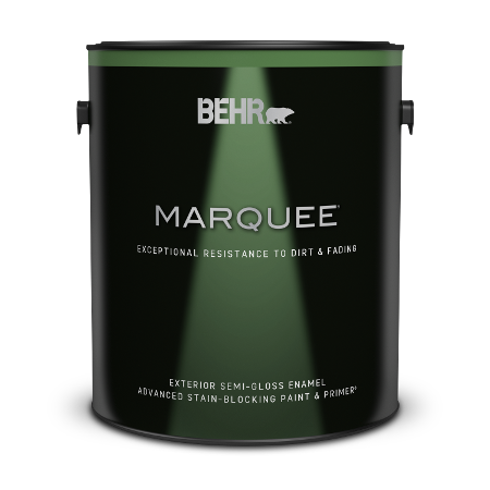 1 gallon can of Behr Marquee Exterior Semi-Gloss Enamel Paint and Primer