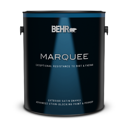 1 gallon can of Behr Marquee Exterior Satin Enamel Paint and Primer
