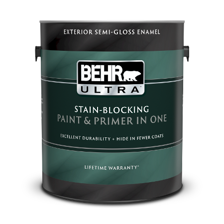 1 gallon can Behr Ultra Exterior semi-gloss enamel paint