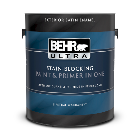 1 gallon can of Behr Ultra Exterior Satin Enamel paint