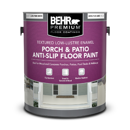 1 gal can of Behr Anti Slip Porch and Patio Floor Paint.