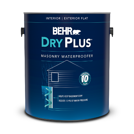 Can of Behr Dry Plus Masonry Waterproofer