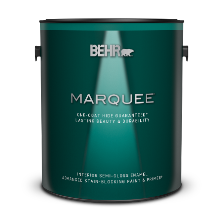 Interior Semi Gloss Enamel Stain Blocking Paint Primer Behr Marquee Behr