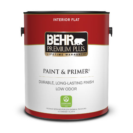 1 gal can of Premium Plus Interior Flat Paint