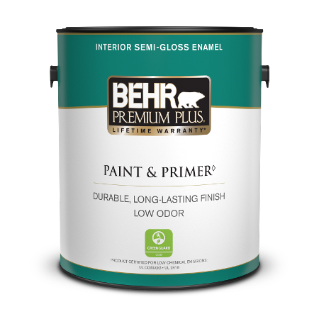 Interior Semi Gloss Enamel Paint Behr Premium Plus Behr