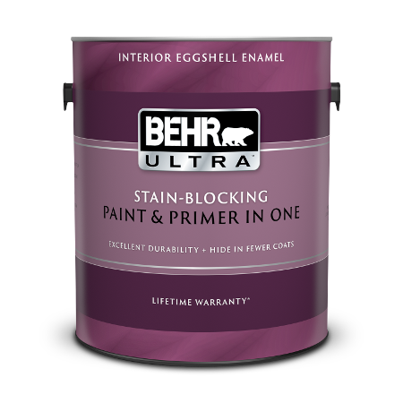 1 gal can of Behr Ultra Interior Eggshell Enamel paint