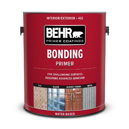 Can of Behr Bonding Primer