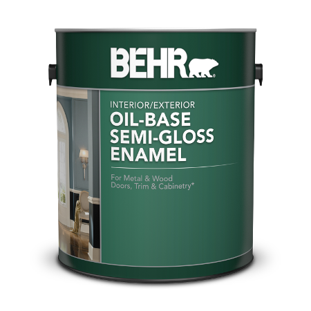 Oil-Base Semi-Gloss Enamel Paints for Your Project | Behr