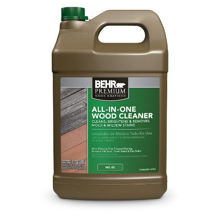 Jug of all-in-one wood cleaner