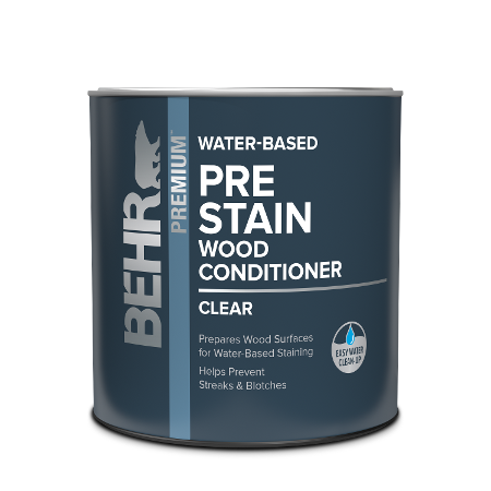 Behr interior Water-based Pre Stain Wood Conditioner can image.