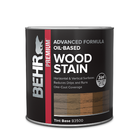 Quart can of Behr Oil Based Wood Stain