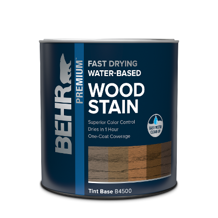 Behr interior Water-based Wood Stain can image.