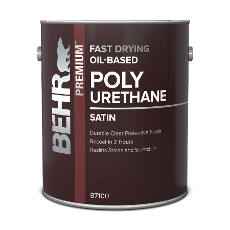 Can of Behr Oil Based Polyurethane