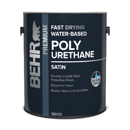 Behr interior Water-based Polyurethane can image.