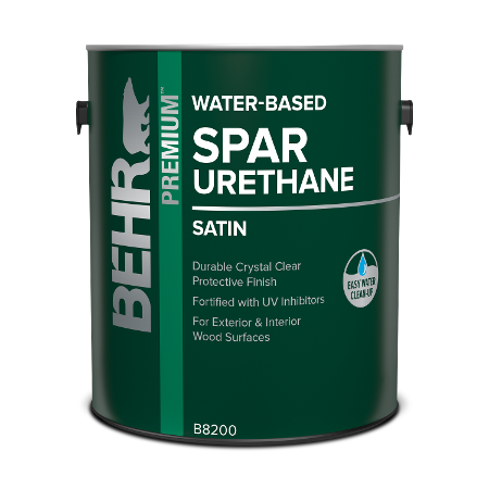 Behr interior Water-based Wood Spar Urethane can image.