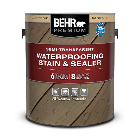 1 gal can of Behr Premium Transparent Wood Stain.