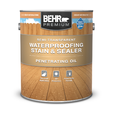 1 gal can Behr Premium Semi Transparent Penetrating Wood Oil