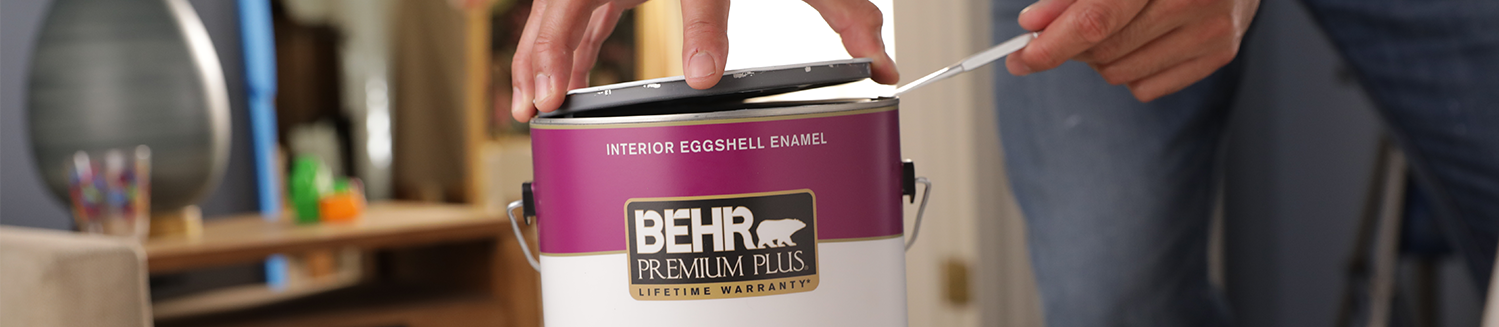 Behr Premium Plus paint can