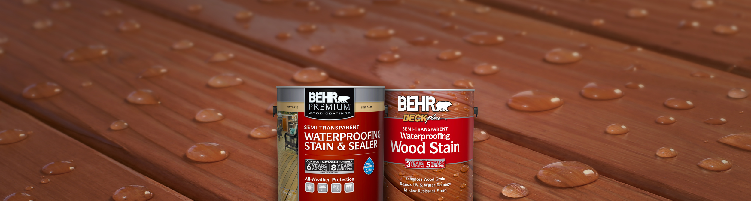 Semi Transparent Wood Stains Waterproofing Wood Coatings Behr