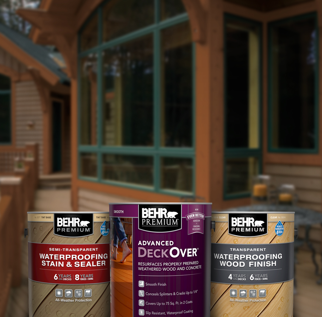 Exterior Wood Stains Finishes Strippers And Cleaners Behr