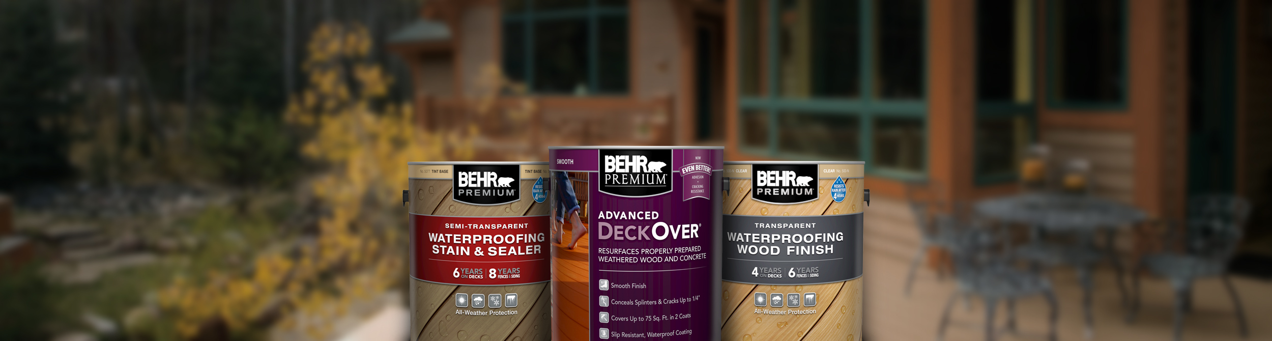 Exterior Wood Stains, Finishes, Strippers, and Cleaners | Behr