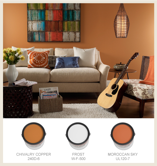Casual Orange Living Room