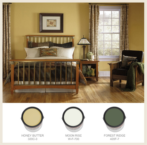 Colorfully, BEHR :: Arts and crafts bedroom