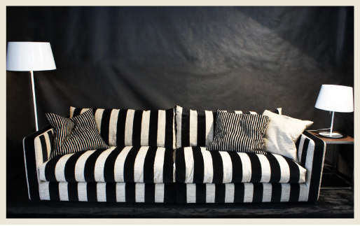 Striped Sofa Colorfully Behr