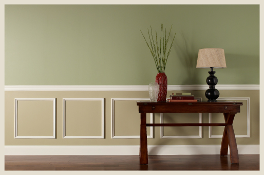 Two Tone Walls Colorfully Behr