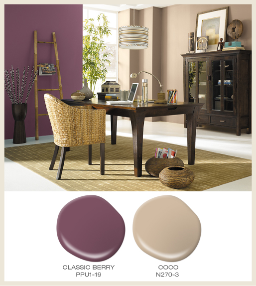 Global Berry Red Office Style Colorfully Behr