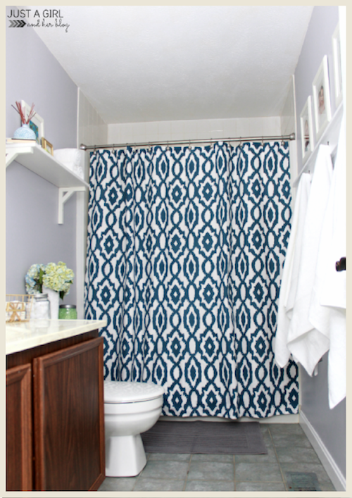 A bathroom refresh by Just a Girl and Her Blog.
