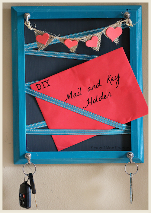 A DIY Key and Mail Holder by Frugal Mom, Eh!