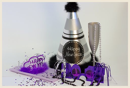 New Year celebration decorations.
