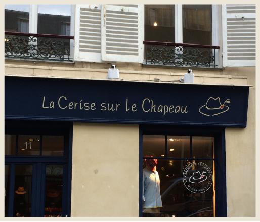 A storefront of La Cerise sur Le Chapeau at 11 rue Cassette 750006 Paris.