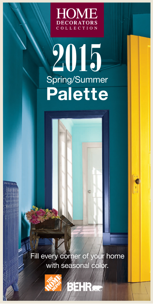 The brochure cover of  the Home Decorators Collection 2015 spring/summer palette.