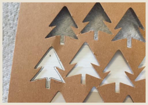 Pine tree pattern stencil.
