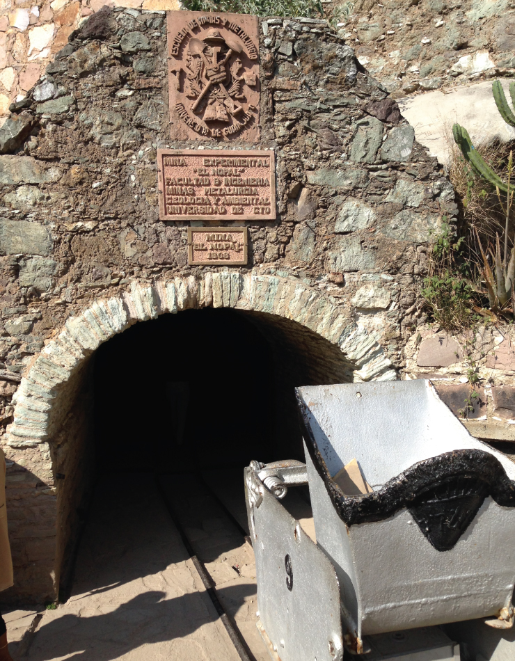 The entrance to El Nopal, an old mine from the mid 18th century.